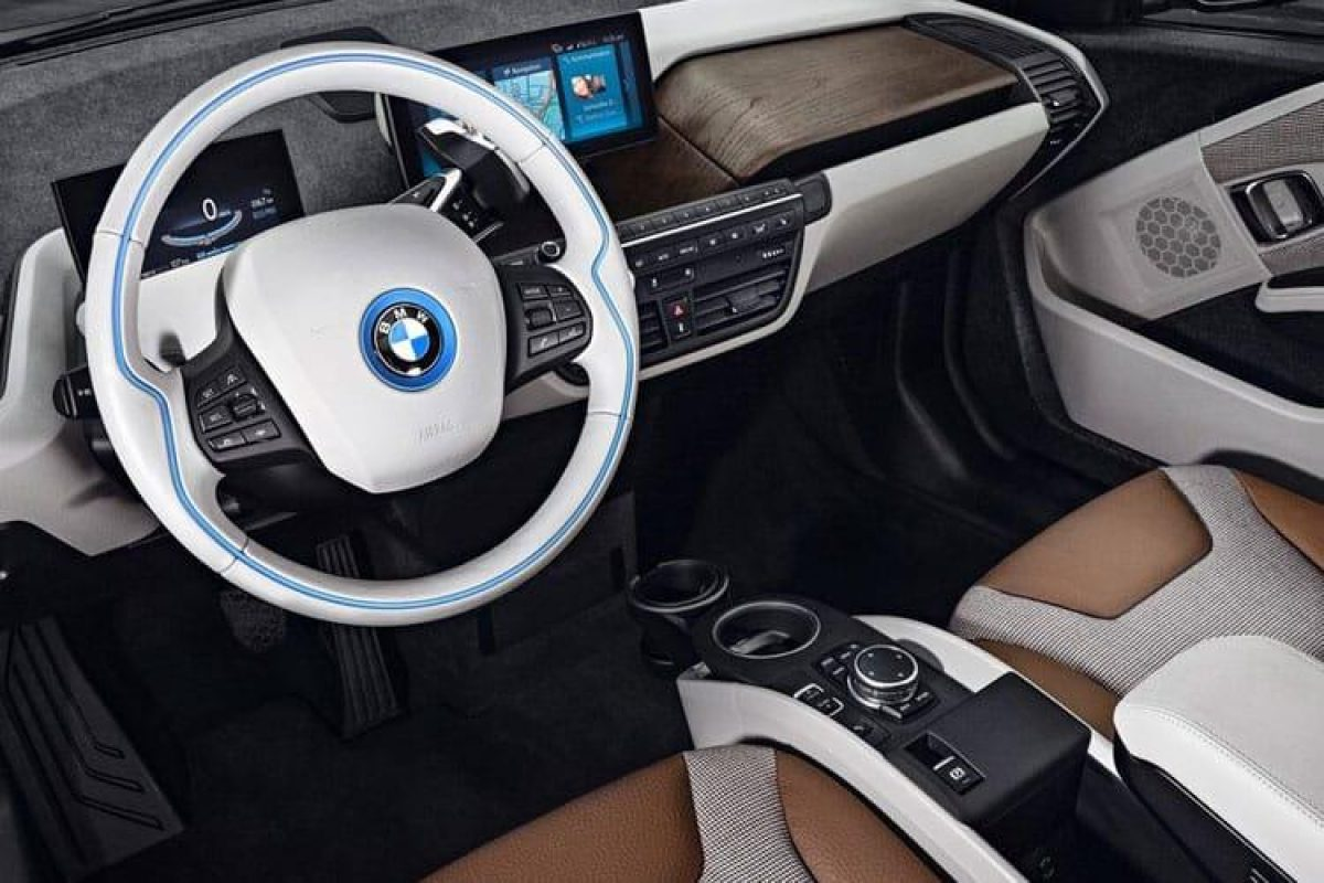 bmw i3 hatch edrive 94ah interior world loft auto electric vantage leasing. Black Bedroom Furniture Sets. Home Design Ideas
